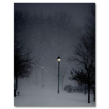 Αφίσα (πάρκο, Κεμπέκ, μαύρο, λευκό, άσπρο)